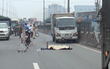 TP.HCM: Người đàn ông bị xe tải húc văng 3m tử vong sau khi liên tục lao vào các phương tiện trên quốc lộ 1