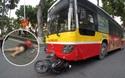 Xe buýt chạy tốc độ cao đâm liên tiếp ô tô và xe máy ở phố Hàng Khay, cô gái trẻ chết thảm