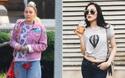 """Hạ Vi vẫn miệt mài khoe eo, Miley Cyrus diện quần in hình ngay chỗ """"nhạy cảm"""""""