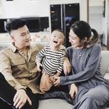 """""""Gia đình trong mơ"""" Trang Lou - Tùng Sơn: Có con là điều khó khăn nhất nhưng cũng hạnh phúc nhất!"""
