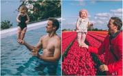 Cách tạo dáng bá đạo của bố và con gái trong bộ ảnh