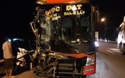 Quảng Nam: Va chạm liên hoàn giữa xe khách và 2 xe tải, giao thông ách tắc hơn 5 km