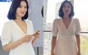 """Lộ vòng eo """"bất thường"""", Song Hye Kyo lại bị đồn đang mang thai đứa con đầu lòng với Song Joong Ki"""