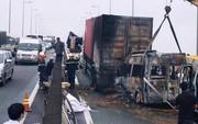Xe khách tông container rồi cháy rụi, 2 người chết: Cao tốc TP. HCM-Long Thành-Dầu Giây tê liệt hơn 5 giờ