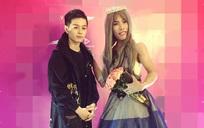 Tùng Sơn mặc váy, đội vương miện cùng 'bạn trai' soái ca đi dự sự kiện