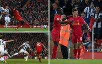 Liverpool chiếm ngôi nhì bảng sau chiến thắng kịch tính trước West Brom