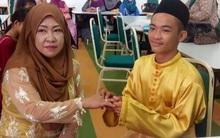Trai tân 18 tuổi khiến nhiều người bị sốc khi kết hôn với bà mẹ 5 con 42 tuổi