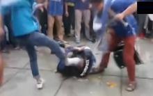 Clip: Đám đông hooligan Trung Quốc đánh dã man CĐV đối địch