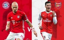 """""""Thánh nhọ"""" Arsenal lại đụng Bayern Munich ở vòng knock-out Champions League"""