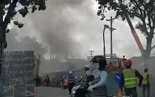 Cháy lớn tại công trình đang thi công ở Sài Gòn