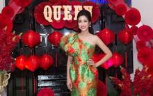 Hoa hậu Đỗ Mỹ Linh đẹp rạng ngời tham dự đêm tiệc tại Queen Plaza