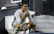 Ảnh chế: Ronaldo ngồi bồn cầu ngẫm nghĩ sự đời