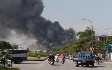 Hà Nội: Đang cháy lớn tại khu công nghiệp Ngọc Hồi