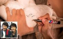 Song Joong Ki gây sốt khi viết thông điệp tình yêu với Kwang Soo lên đá