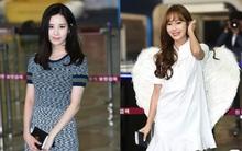 """Jessica đeo cánh thiên thần, """"đụng độ"""" em út Seohyun ngay tại sân bay"""