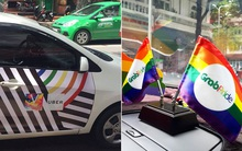 """Những chiếc taxi """"treo"""" cờ lục sắc để hưởng ứng ngày hội Viet Pride ở Sài Gòn"""