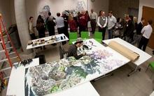 Họa sĩ Nhật Bản vẽ liên tục 10 tiếng/ 1 ngày trong vòng 3 năm rưỡi để hoàn thành bức tranh đầy ý nghĩa