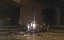 Hà Nội: Lao ô tô từ trên cầu Thanh Trì xuống đất, người đàn ông tử vong