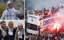 Chùm ảnh màn rước Cúp Champions League siêu hoành tráng của dàn sao Real Madrid