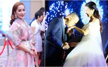 Khánh Thi một mình đến chúc mừng đám cưới tình cũ Chí Anh