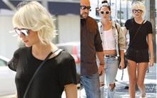 Taylor Swift khoe tóc vàng bạch kim, chân dài nuột nà bên thiên thần Victoria's Secret