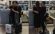 Trấn Thành - Hari Won diện giày đôi, ôm nhau tình tứ ở sân bay