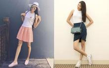 Cùng là váy ngắn, Phạm Hương - Lan Khuê lại tạo nên hai phong thái đối lập