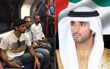 Quốc vương và Hoàng tử vạn người mê của Dubai xuất hiện giản dị trên tàu điện ngầm ở London