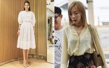Phạm Hương diện váy xinh như công chúa, bộ đôi SNSD để lộ nội y tại sân bay