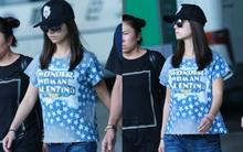 Lâm Tâm Như lạnh lùng xuất hiện tại sân bay, được fan nhắc nhở mặc váy bầu