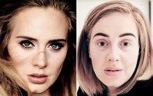 Adele trông như người lạ khi thiếu đi đường kẻ mắt trứ danh