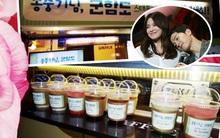 """Song Hye Kyo khiến fan """"bấn loạn"""" khi gửi xe đồ ăn cổ vũ tinh thần Song Joong Ki"""