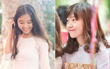 Chẳng cần ăn diện cầu kỳ - Con gái Chu Văn An vẫn rất xinh và dịu dàng trong tà áo dài trắng
