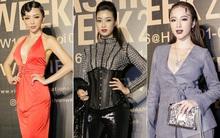 """Thảm đỏ Vietnam International Fashion Week ngày 1: Hoa hậu Mỹ Linh """"lột xác"""" đầy sắc sảo, Tóc Tiên khoe vòng 1 gợi cảm"""