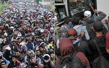 Đây chính là cảnh tượng kinh hoàng khiến 18 người chết vì kẹt xe ở Indonesia
