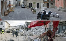 Loạt ảnh trước - sau: Sau trận động đất, thị trấn thơ mộng của Italy bỗng trở nên hoang tàn đáng sợ