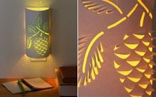 Tỉ mẩn cắt giấy F5 chiếc đèn ngủ đẹp lung linh