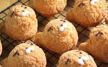 """Bánh su kem đem """"lai"""" với cookies sẽ cho ra chú gấu dễ thương này đây!"""