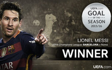 Messi là chủ nhân của bàn thắng đẹp nhất mùa 2015/16