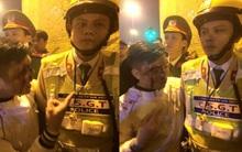 Hà Nội: Nam thanh niên bị ngã chảy máu mặt, gọi người nhà đến uy hiếp CSGT