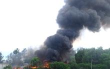 Quảng Nam: Cháy lớn ở bãi phế liệu công nghiệp, cột khói bốc cao hàng chục mét