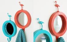 5 phút để biến chiếc gương nhựa tầm thường thành gương treo cực đáng yêu