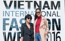 Hoàng Thùy ăn diện cá tính, dàn mẫu nhí cực xinh chuẩn bị cho Vietnam International Fashion Week ngày 3