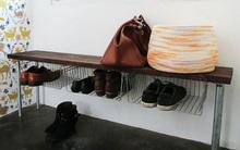 Tự chế kệ giày túi xách 2 trong 1 gọn gàng cho nhà chật