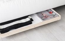 Tận dụng triệt để không gian giường với kệ gậm giường cực chất