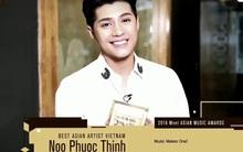Noo Phước Thịnh nhận giải Nghệ sỹ châu Á xuất sắc nhất