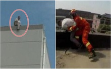 Người đàn ông leo lên tầng thượng định tự tử, ai dè trúng nắng ngất tại trận và được cứu sống