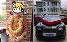 Đám cưới nhà giàu toàn Rolls-Royce siêu sang, cô dâu cổ đeo trĩu vàng