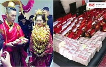 Những đám cưới toàn vàng ròng ở Trung Quốc luôn khiến người ta phải choáng ngợp