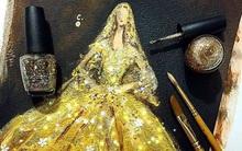 Bộ sưu tập váy dạ hội thời trang lộng lẫy được vẽ nên từ sơn móng tay